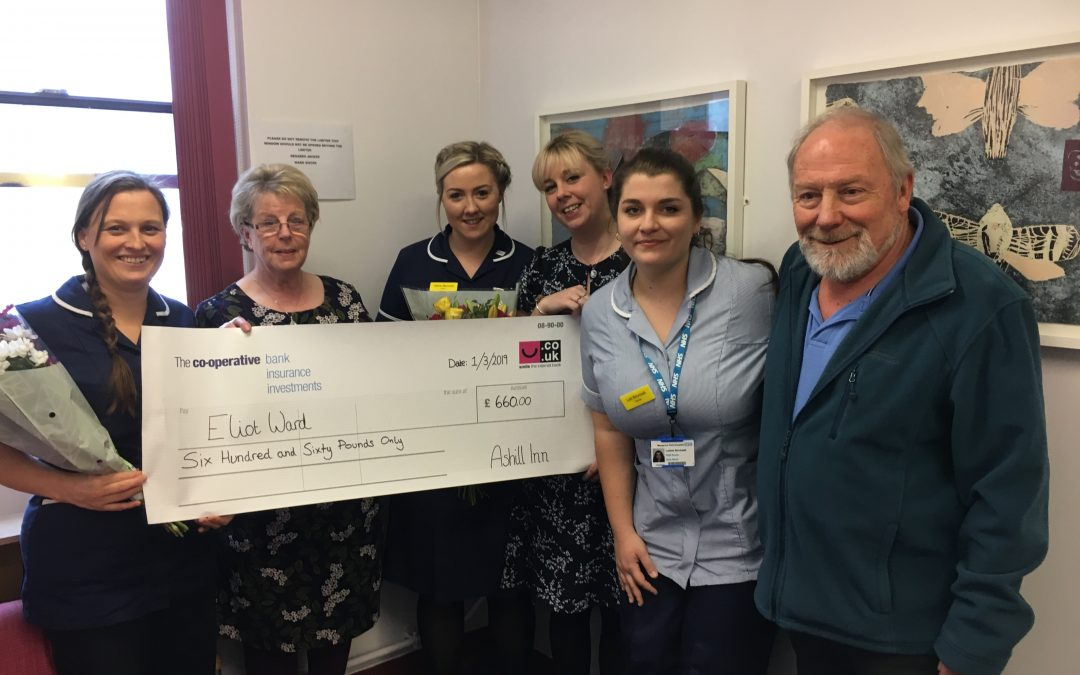 DONATION TO ELIOT WARD