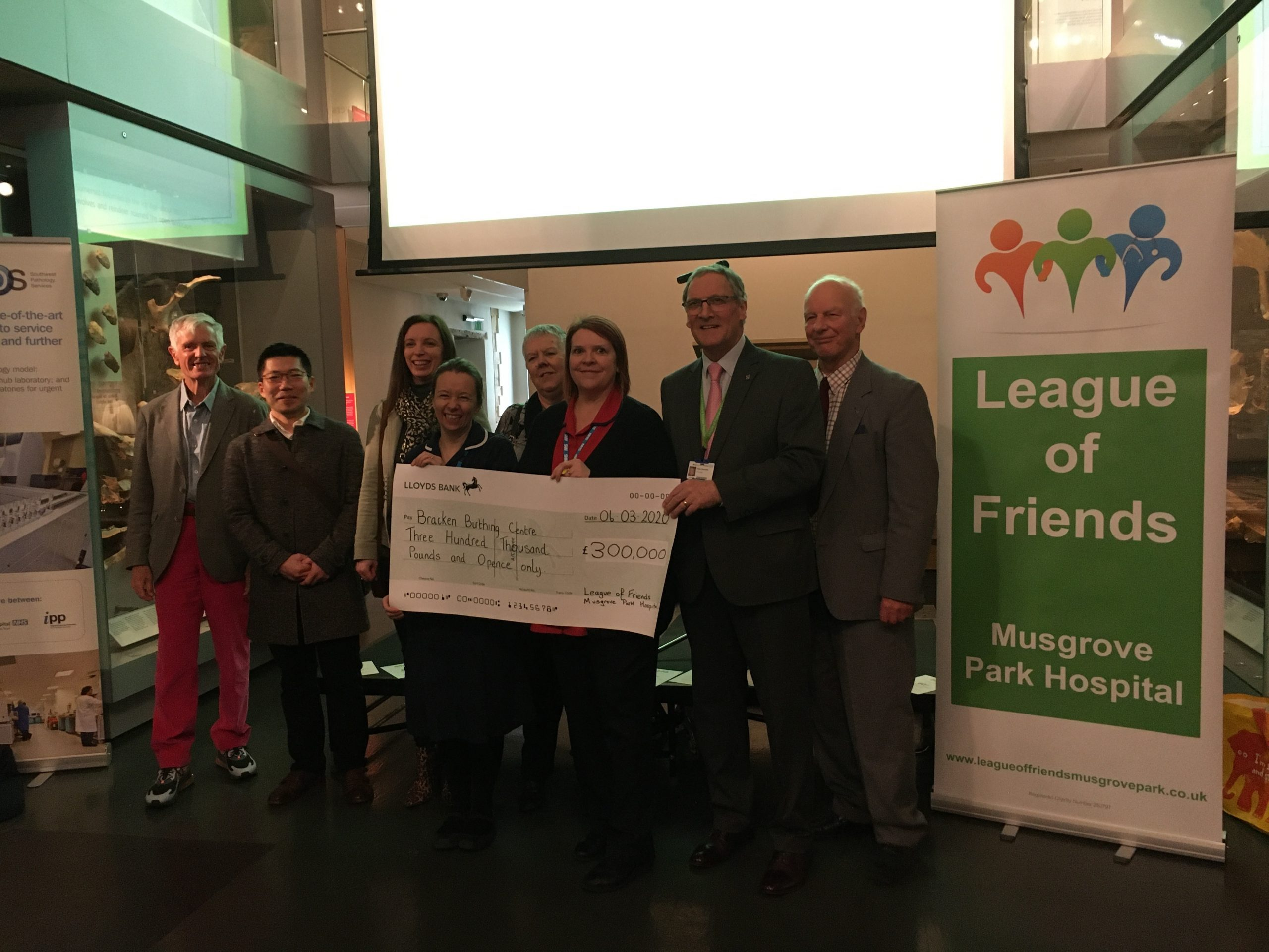LEAGUE GIVES £300,000